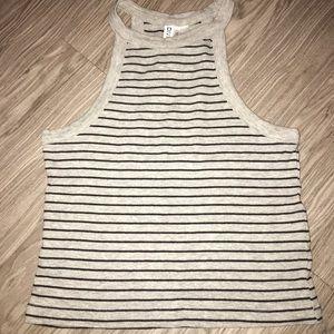 grey striped halter top :)) 👽